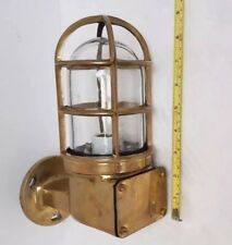 Vintage Polished Brass Nautical Industrial Explosion-Proof Light Fixture New
