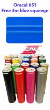 12 Adhesive Vinyl Free 3m Blue Squeegee 10 Rolls 5 Feet Oracal 651