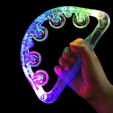 More details for led light up sensory toy flashing tambourine musical instrument shaking toy new