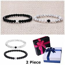 His And Hers Bracelets Long Distance Relationship Couples Love Bracelet 2 Piece
