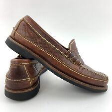 Chippewa Casual Loafers Men's Size 7.5 Shoes Brown Leather Made In USA