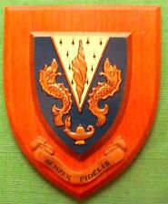 Old  SEMPER FIDELIS College School University Academic Crest Shield Plaque