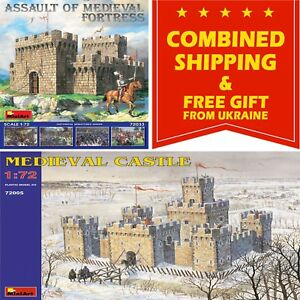 MEDIEVAL FORTRESSES MINIART 1/72 SCALE PLASTIC MODEL KIT HISTORICAL MINIATURES