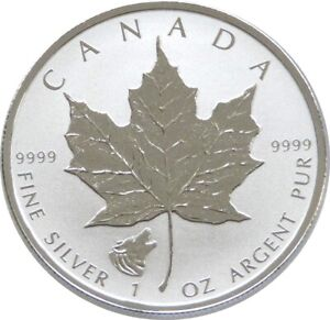2016 Canada Wolf Privy Maple Leaf $5 Five Dollar Silver Reverse Proof 1oz Coin