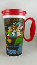 Disney Parks Travel Mug Mickey Minnie Mouse RED, New Old Stock Never Used
