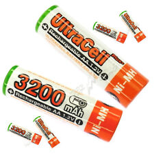 6 pcs AA size 1.2V 3200mAh Ni-MH Rechargeable Battery LR06 HR6 Ultracell plus O
