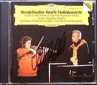 Anne-Sophie MUTTER Signiert MENDELSSOHN BRUCH Violinkonzerte KARAJAN CD Violin