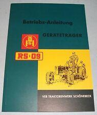 Traktor RS09 Geräteträger Betriebsanleitung Bedienungsanleitung Katalog TWS neu