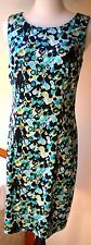 ABG 2-pc C/Casual Sleeveless K-Length Poly/Spandex Geo Print Sheath Dress Sz 8