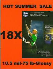 HP Advanced 4 X 6 Gloss Photo Paper~Borderless~900 count~NEW~LABEL~NEW~LOW~PRICE