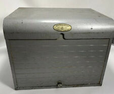 Vintage Brumberger Darkroom Photo Paper Safe Rooftop Metal Organizer Box