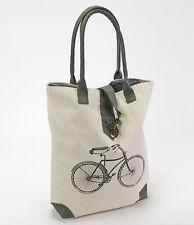 Shopper Bag Tasche Handtasche Einkaufstasche retro Fahrrad Bike Rad vintage