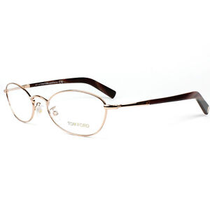 NEW AUTHENTIC Tom Ford TF5368 030 Eyeglasses Gold/Brown Frame 51-18-145