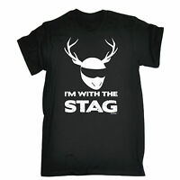 I Am With The Stag T-SHIRT Night Party Bucks Wedding Do Funny Gift Birthday