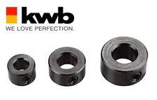 KWB SET 3 ANELLI DI FINE CORSA limitatore di profondità PER SPINATURA 6 8 10 mm