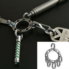1pc Utility Removable UFO buckle Durable Keychain outdoor EDC tool Mini Key Ring
