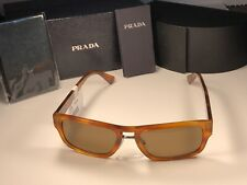 Prada SPR 05V Light Havana Frames 469-1H0 Sunglasses W/Bronze Polarized Lens