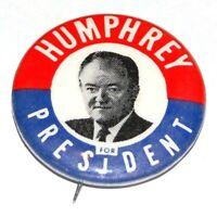 '68 HUBERT HUMPHREY 1.25 INCH campaign pin pinback button political presidential