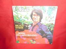 NICOLA DI BARI I giorni dell'arcobaleno 45rpm 7' SOLO COPERTINA 1972 ITALY EX+