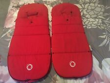 Twin Bugaboo Red Footmuffs Cosytoes Perfect For Donkey Or Universal Stroller