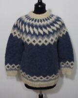 Island Norweger Strick Pullover Grösse XS Damen Schurwolle Handarbeit K907