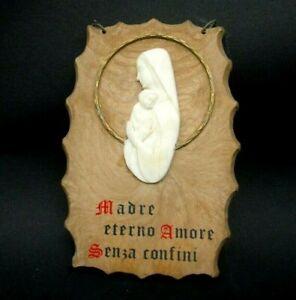 MADRE ETERNO AMORE SENZA CONFINI - IMMAGINE RELIGIOSA MADONNA VINTAGE