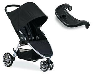 Britax 2020 B-Agile 3 Stroller in Black + Child Tray - Brand New!