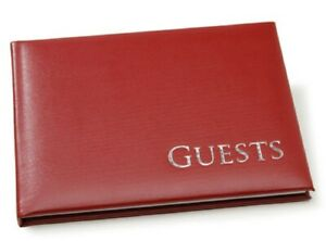 Red and Silver Embossed Guest Book 60 Pages Special Event Occasions New