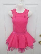 Hot Pink Burnout Dress Tap Jazz MT Dance Costume Large Child LC 12 14