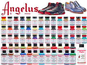 Angelus Acrylic Leather Paint Shoes Bags Trainers Sneakers 1oz 4oz 160+ Colours