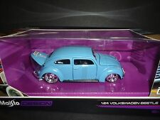 Maisto Volkswagen Beetle Classic Blue Design  1/24