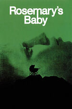Framed Retro Movie Poster – Rosemary's Baby 1968 (Replica Print Horror Cinema)