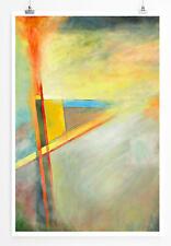 60x90cm Abstraktes helles Bild mit roten Linien