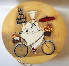 "Vintage ART IN MOTION Hat Box JENNIFER GARRANT Large Round 15"" PARIS 2003"