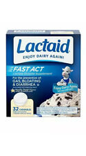 Lactaid Fast Act Lactose Intolerance Relief Chewables with Lactase Enzyme to ...