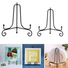 Storage Rack Plate Stands Iron Display Stand Bracket Décor Holder Support W1E7