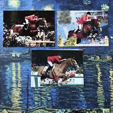 EQUESTRIAN HORSE RIDING CARDS LOT OF 3