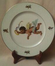 """Rare! Four Crown China Angel 10 1/2"""" Porcelain Plate"""