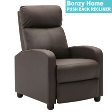 PUSH BACK RECLINER CHAIR SOFA LIVING ROOM PADDED FURNITURE THEATER SEAT ARMCHAIR