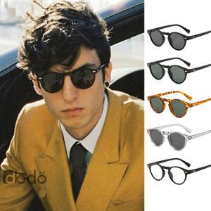Classic Round Oval Men Women Retro Vintage Fashion Trendy Sunglasses Shade UV400
