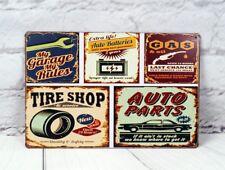 Retro Garage Sign Vintage Tin Signs Metal Poster Home Garage Wall Decor Plaque