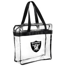 NFL Oakland Raiders Clear Zipper Messanger Tote Bag
