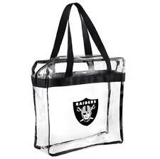 NFL Oakland Raiders Clear Zipper Messanger Tote Bag