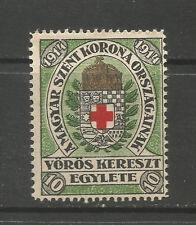 Hungría/primera Guerra Mundial 1914 húngaro Cruz Roja 10 F/Etiqueta de sello de caridad