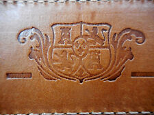 Bosca Leather Belt with Hidden Zippered security pocket brown 32