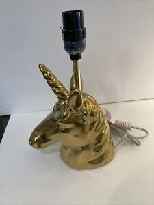 "Pillowfort Gold Unicorn Table Desk Lamp NO SHADE 12"" Tall"