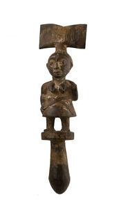 Bastone Di Danse Ose Sango-Oshe Shango-Youruba-Nigeria Arte Africano -1228