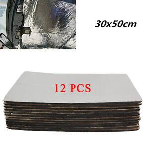 12pcs 30X50CM Car Firewall Sound Deadener Heat Insulation Deadening Mat Pad Kit