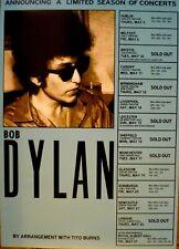 Bob Dylan concert promo poster - Royal Albert Hall London and UK tour May 1966