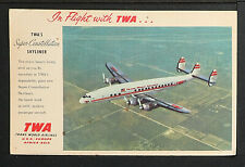 USA 1044-TWA, In Flight with TWA'S Super-Constellation, Skyliner